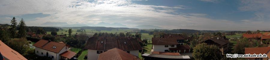 Panorama-Aufnahmen aus Schign, Gemeinde Saaldorf-Surheim, Oktober 2009